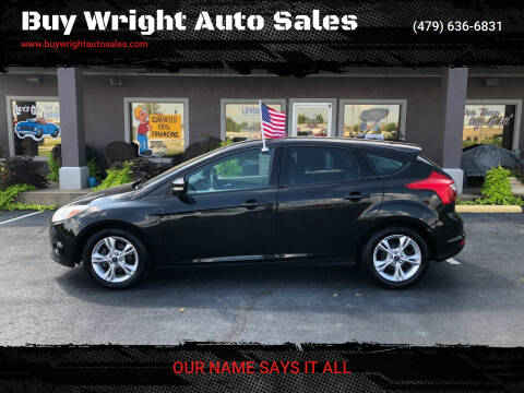 2013 Ford Focus for sale at Buy Wright Auto Sales in Rogers AR