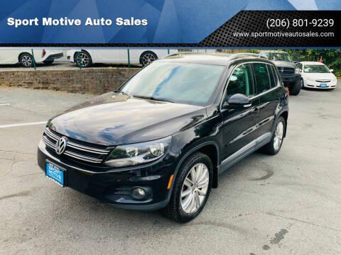 2014 Volkswagen Tiguan for sale at Sport Motive Auto Sales in Seattle WA
