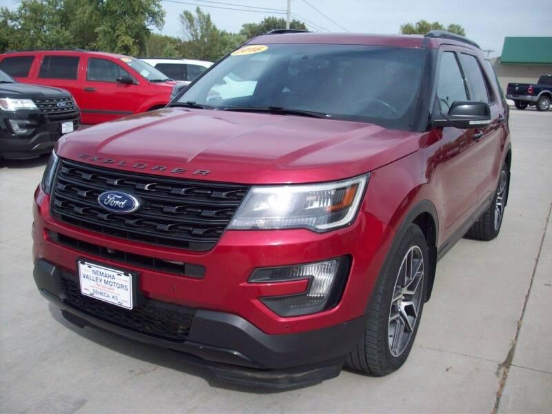 2016 Ford Explorer for sale at Nemaha Valley Motors in Seneca KS