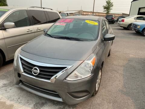 2016 Nissan Versa for sale at BELOW BOOK AUTO SALES in Idaho Falls ID