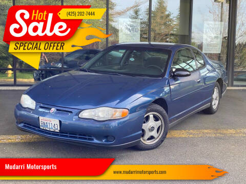 2003 Chevrolet Monte Carlo for sale at Mudarri Motorsports in Kirkland WA