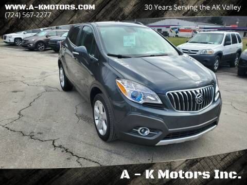 2016 Buick Encore for sale at A - K Motors Inc. in Vandergrift PA