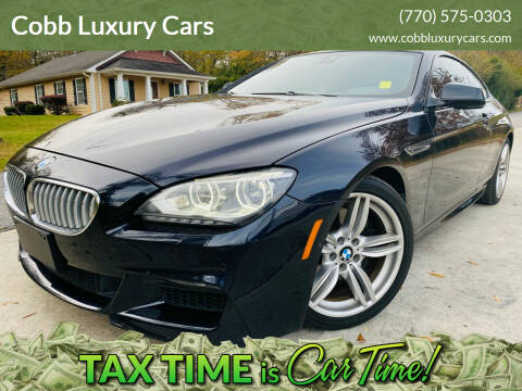 2013 BMW 6 Series for sale at Cobb Luxury Cars in Marietta GA