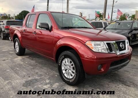 2015 Nissan Frontier for sale at AUTO CLUB OF MIAMI, INC in Miami FL