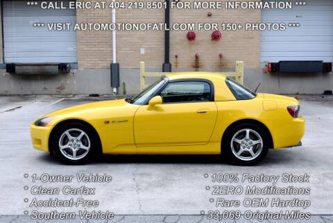 2003 Honda S2000 for sale at Automotion Of Atlanta in Conyers GA