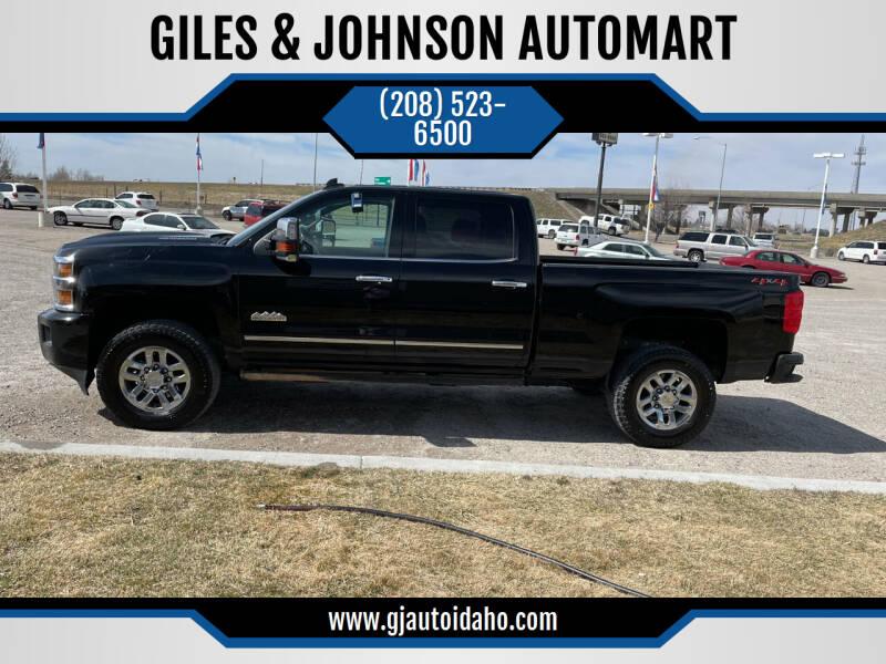 2018 Chevrolet Silverado 3500HD for sale at GILES & JOHNSON AUTOMART in Idaho Falls ID