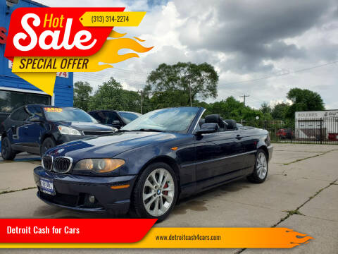 2004 BMW 3 Series for sale at Detroit Cash for Cars in Warren MI