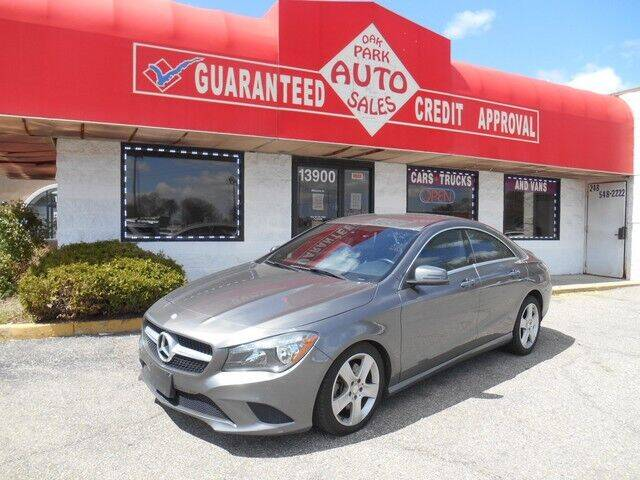 2015 Mercedes-Benz CLA for sale at Oak Park Auto Sales in Oak Park MI