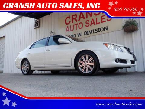 2009 Toyota Avalon for sale at CRANSH AUTO SALES, INC in Arlington TX