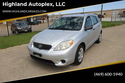 2006 Toyota Matrix for sale at Highland Autoplex, LLC in Dallas TX