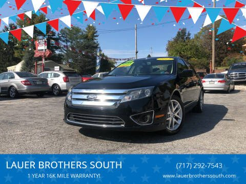 2012 Ford Fusion for sale at LAUER BROTHERS SOUTH in York PA