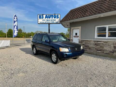 2002 Toyota Highlander for sale at 83 Autos in York PA
