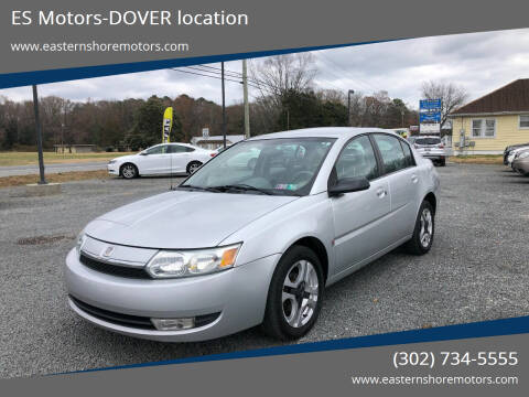 2003 Saturn Ion for sale at ES Motors-DAGSBORO location - Dover in Dover DE
