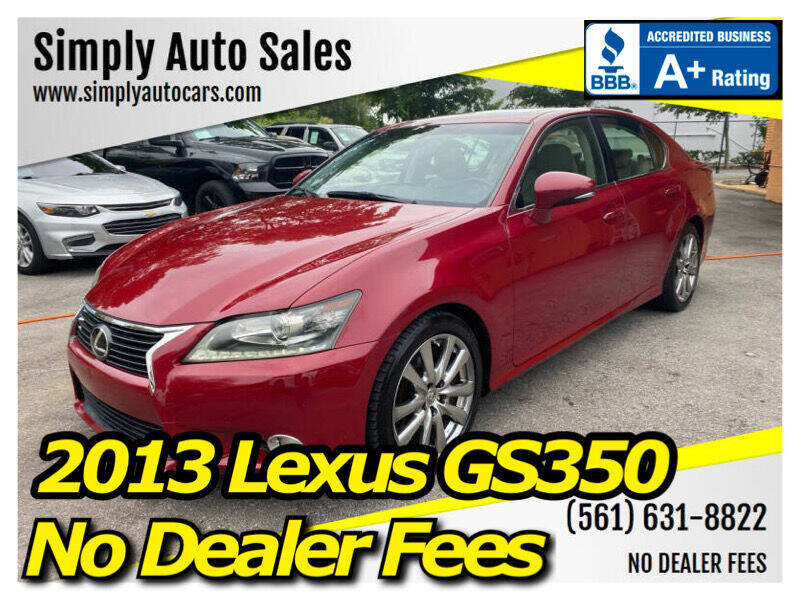 2013 Lexus GS 350 for sale at Simply Auto Sales in Palm Beach Gardens FL