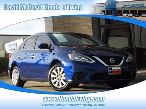 2017 Nissan Sentra for sale at DAVID McDAVID HONDA OF IRVING in Irving TX