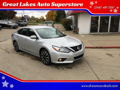 2018 Nissan Altima for sale at Great Lakes Auto Superstore in Pontiac MI