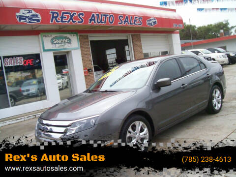 2012 Ford Fusion for sale at Rex's Auto Sales in Junction City KS