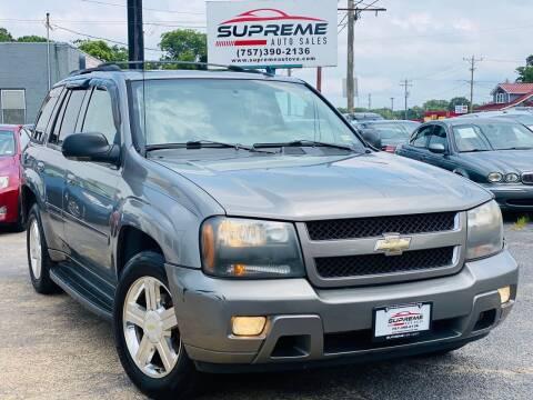 2008 Chevrolet TrailBlazer for sale at Supreme Auto Sales in Chesapeake VA