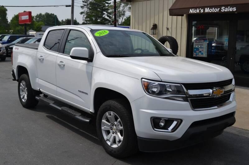 2018 Chevrolet Colorado for sale at Nick's Motor Sales LLC in Kalkaska MI