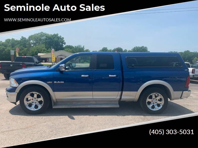 2009 Dodge Ram Pickup 1500 for sale at Seminole Auto Sales in Seminole OK