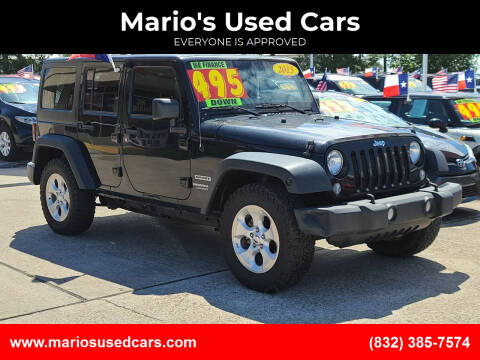 2015 Jeep Wrangler Unlimited for sale at Mario's Used Cars in Houston TX