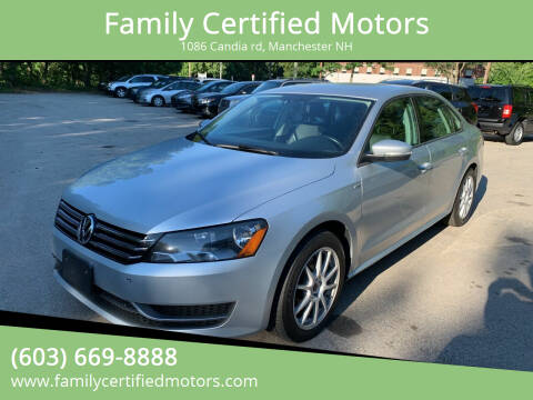 2015 Volkswagen Passat for sale at Family Certified Motors in Manchester NH