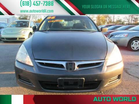 2006 Honda Accord for sale at Auto World in Carbondale IL