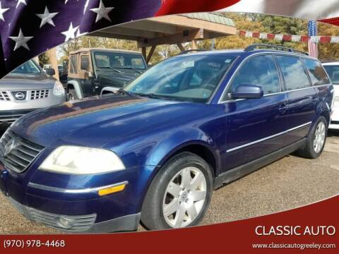 2005 Volkswagen Passat for sale at Classic Auto in Greeley CO