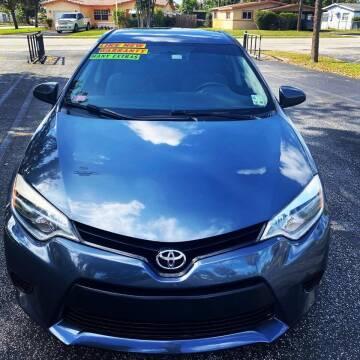2015 Toyota Corolla for sale at Lamberti Auto Collection in Plantation FL