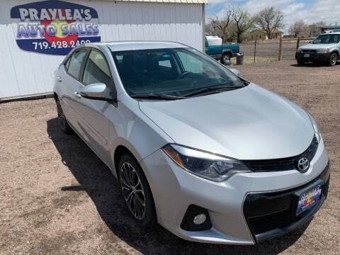 2016 Toyota Corolla for sale at Praylea's Auto Sales in Peyton CO