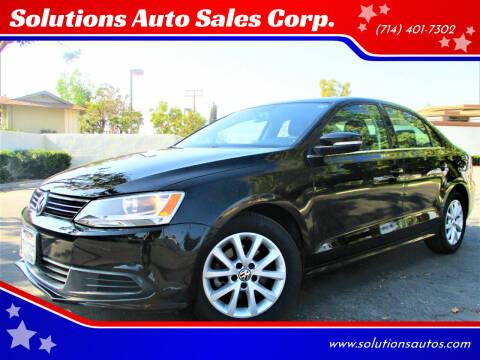 2013 Volkswagen Jetta for sale at Solutions Auto Sales Corp. in Orange CA