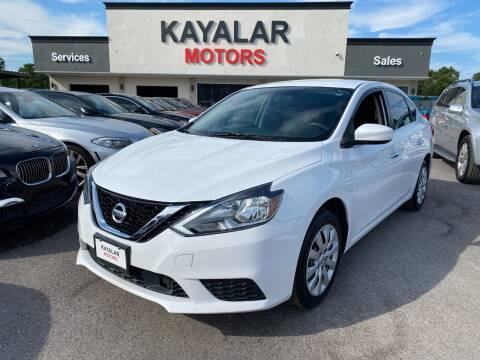 2018 Nissan Sentra for sale at KAYALAR MOTORS in Houston TX