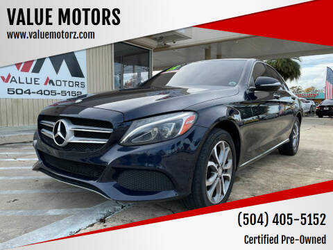 2015 Mercedes-Benz C-Class for sale at VALUE MOTORS in Kenner LA