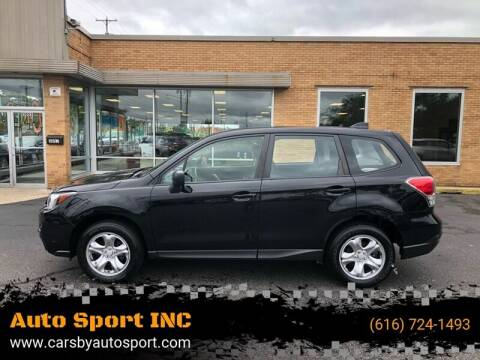 2017 Subaru Forester for sale at Auto Sport INC in Grand Rapids MI