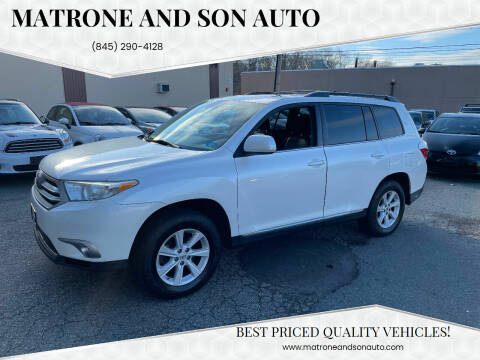 2013 Toyota Highlander for sale at Matrone and Son Auto in Tallman NY