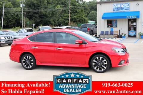 2018 Nissan Sentra for sale at Van 2 Auto Sales Inc in Siler City NC