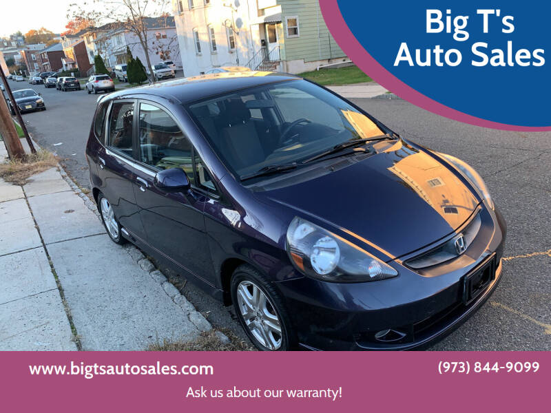 2008 Honda Fit for sale at Big T's Auto Sales in Belleville NJ