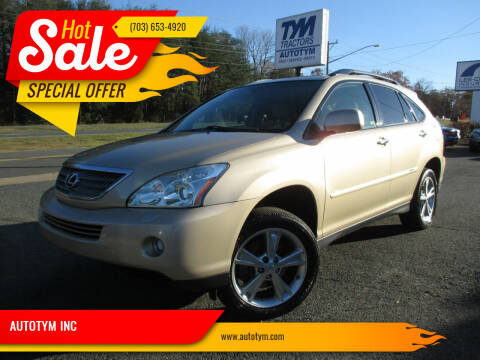 2008 Lexus RX 400h for sale at AUTOTYM INC in Fredericksburg VA