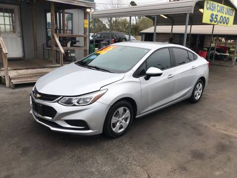2016 Chevrolet Cruze for sale at Texas 1 Auto Finance in Kemah TX