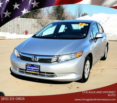 2012 Honda Civic for sale at Chicagoland Internet Auto - 410 N Vine St New Lenox IL, 60451 in New Lenox IL