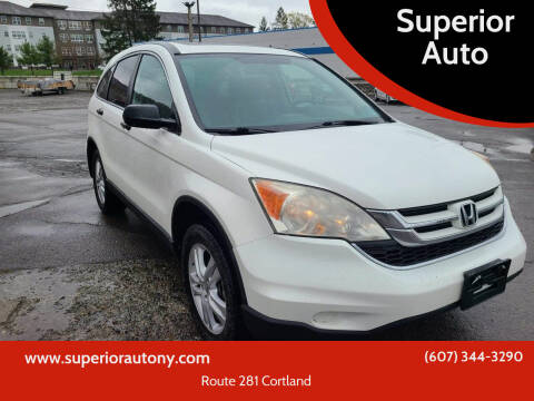 2011 Honda CR-V for sale at Superior Auto in Cortland NY