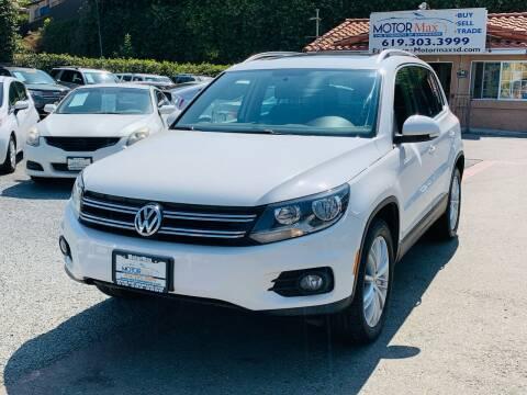 2012 Volkswagen Tiguan for sale at MotorMax in Lemon Grove CA