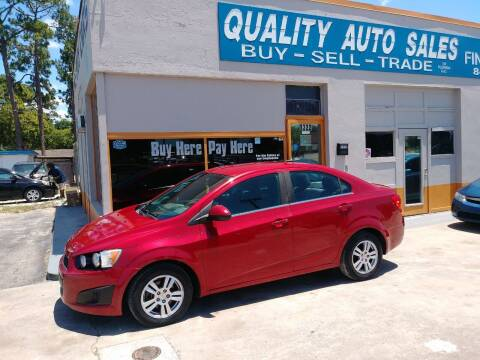 2012 Chevrolet Sonic for sale at QUALITY AUTO SALES OF FLORIDA in New Port Richey FL