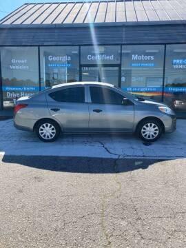 2014 Nissan Versa for sale at Georgia Certified Motors in Stockbridge GA