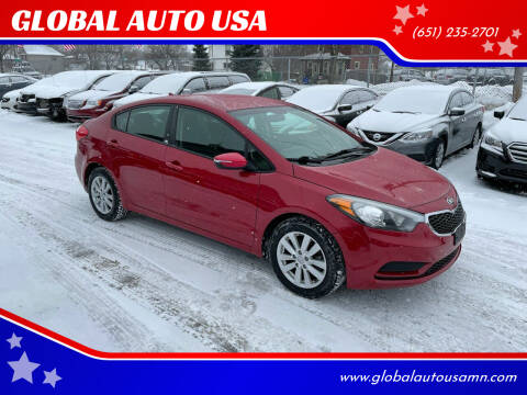 2014 Kia Forte for sale at GLOBAL AUTO USA in Saint Paul MN