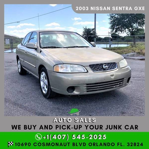 2003 Nissan Sentra for sale at Orlando Auto Sales Recycling in Orlando FL