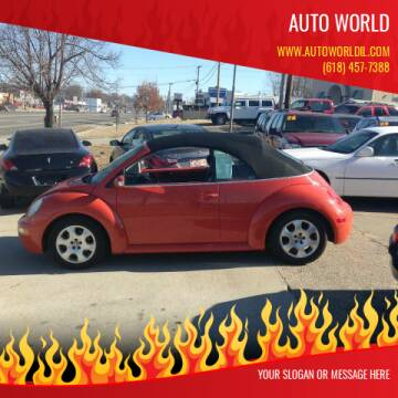 2003 Volkswagen New Beetle Convertible for sale at Auto World in Carbondale IL
