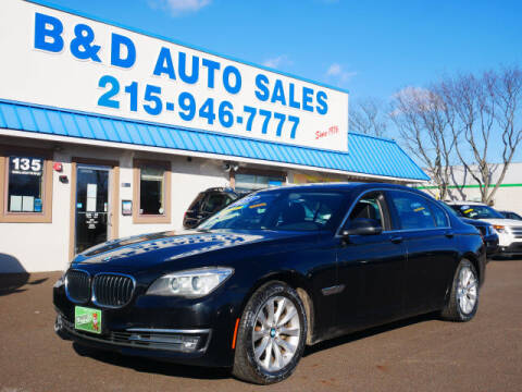 2015 BMW 7 Series for sale at B & D Auto Sales Inc. in Fairless Hills PA
