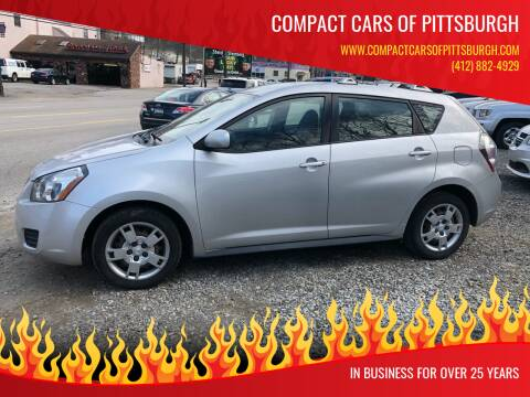 2009 Pontiac Vibe for sale at Compact Cars of Pittsburgh in Pittsburgh PA