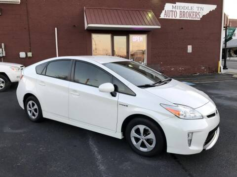 2012 Toyota Prius for sale at Middle Tennessee Auto Brokers LLC in Gallatin TN
